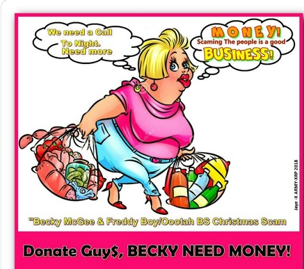 Becky McGee/Oootah Christmas Scam-A-Thon Call!  12/25/18 2018-777