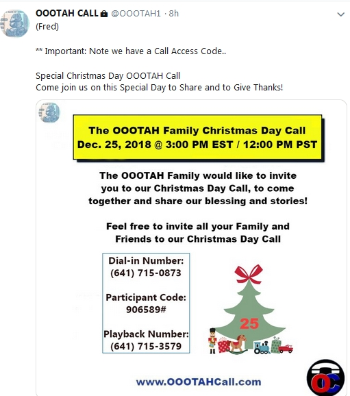 Becky McGee/Oootah Christmas Scam-A-Thon Call!  12/25/18 2018-778