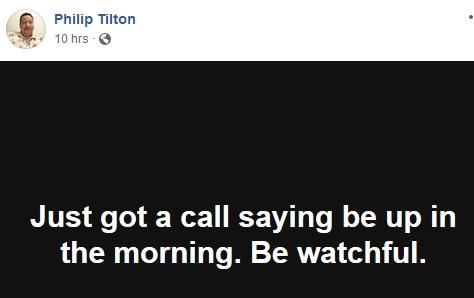 Philip Tilton is On Watch!  12/27/18 2018-811