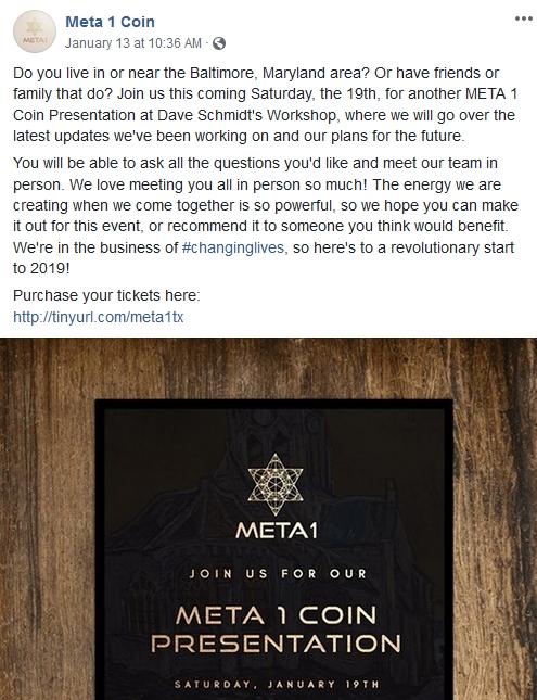 """Dave """"the Douchebag"""" Schmidt Teams Up with Meta1 Coin!  1/14/19 2019-085"""