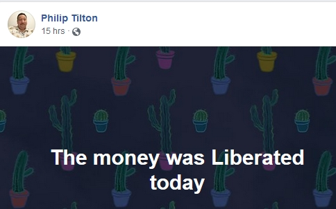 Philip Tilton - The Money was Liberated Today!  1/15/19 2019-093