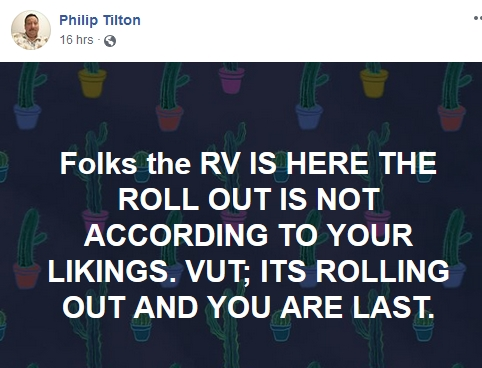 Philip Tilton - The RV is Here (but not all are happy)!  1/22/19 2019-149