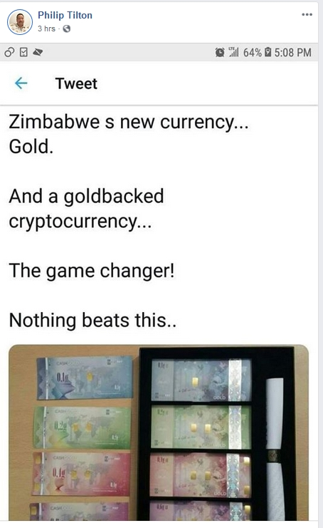 Philip Tilton - Zimbabwe Has a NEW CURRENCY!  2/13/19 2019-266