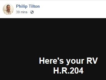 Philip Tilton - Here's Your RV!  2/25/19 2019-308