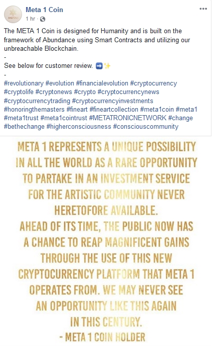 Meta 2 Coin Scammers Write Their Own Reviews!  3/14/19 2019-402