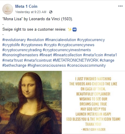 Meta 2 Coin Scammers Write Their Own Reviews!  3/14/19 2019-403