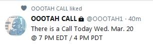Becky McGee/Oootah - Calls Resume!  3/19/19 2019-413