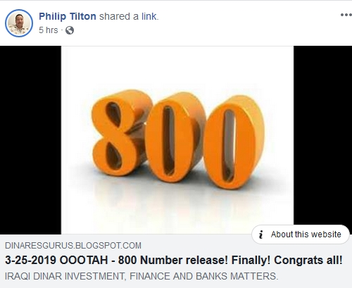 Philip Tilton - 800#'s Have Been Released!  3/25/19 2019-437