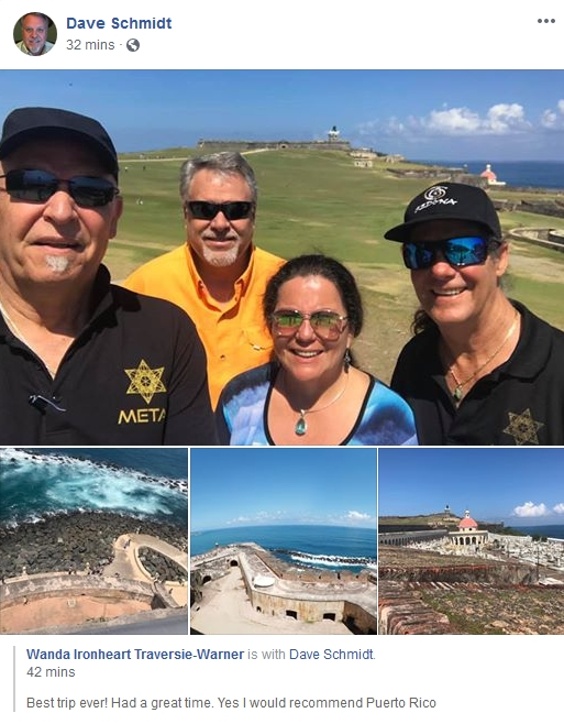 "Dave ""the Douchebag"" Schmidt & the Meta 1 Scam Team do Puerto Rico!  4/3/19 2019-479"