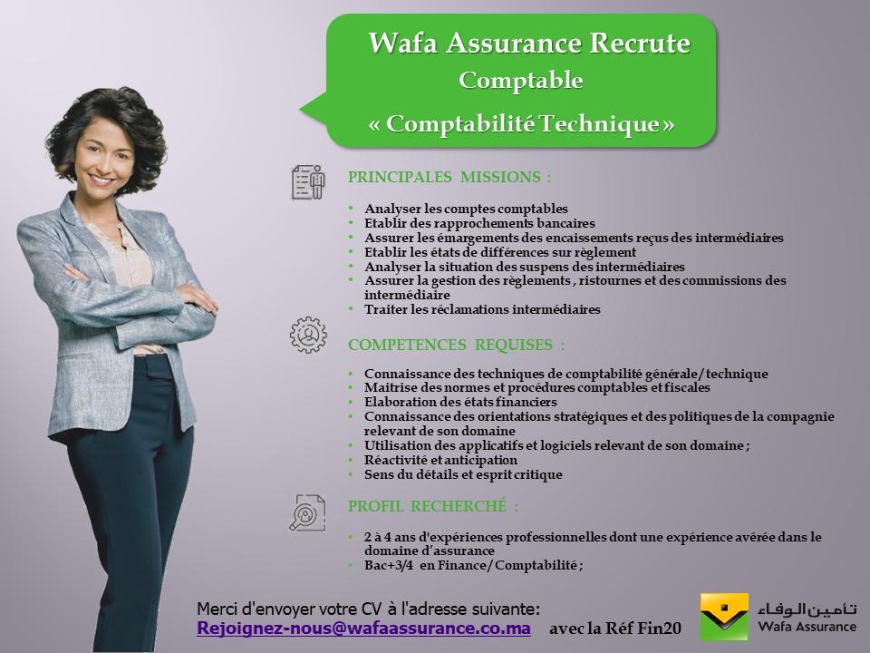 الوفاء للتأمين المغرب تعلن عن توظيف في عدة تخصصات و مناصب 116