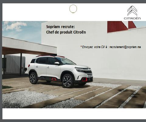 شركة SOPRIAM المتخصصة في تسويق و توزيع سيارات بيجو ستروين توظيف في عدة مناصب 212