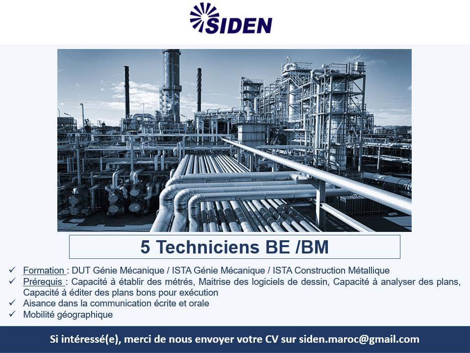 شركة كبرى SIDEN متخصصة في عدة مجالات صناعية توظيف في عدة مناصب و تخصصات  213