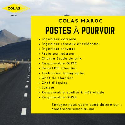شركة COLAS MAROC  توظيف تقنيين و مهندسين و اطر Avis_d10
