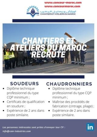 شركة أوراش و معامل المغرب CAM توظيف تقنيين و عمال مؤهلين Chanti12