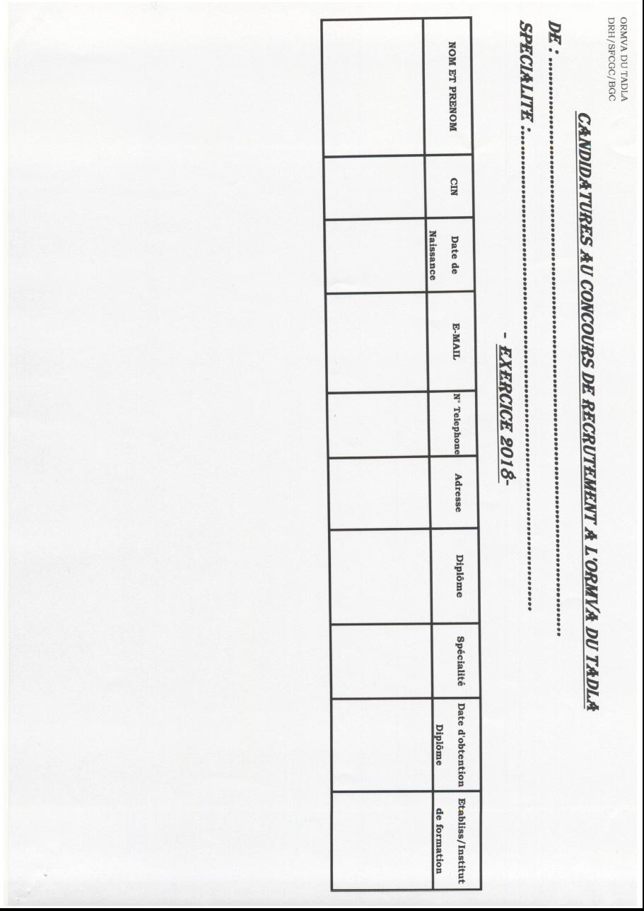 المكتب الجهوي للاستثمار الفلاحي لتادلة : مباراة توظيف 14 تقني متخصص و 2 مهندس الدولة و 2 متصرفين الدرجة الثانية آخر أجل 21 شتنبر 2018 Con110