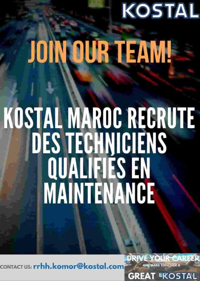 مصنع كوسطال المغرب توظيف تقنيين في عدة تخصصات Kostal12