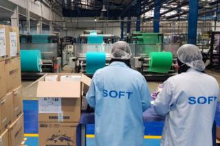 شركة و مصنع النسيج توظيف 100 عامل التعبئة و التغليف - خط إنتاج الكمامات  Soft-g10