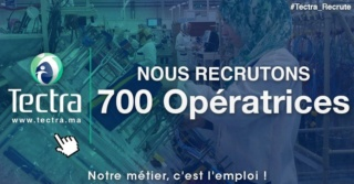 شركة تكترا توظيف 700 منصب عمال خطوط انتاج لفائدة شركة بالمنطقة الحرة بالقنيطرة بمستوى اعدادي على الاقل Tectra10