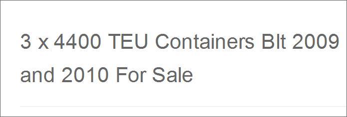 Portacontenedores:  for buyer   00100010