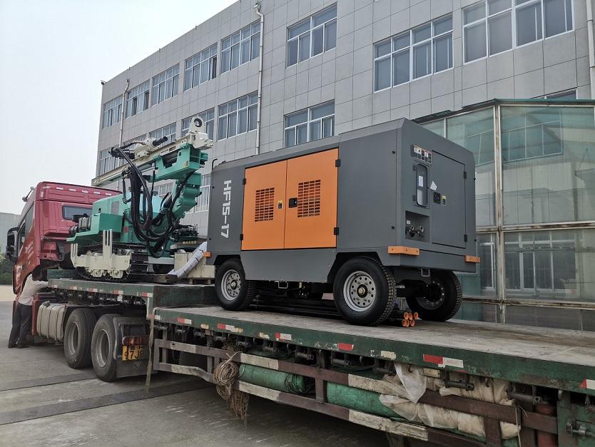 HF140Y drilling rig with air compressor 10255910