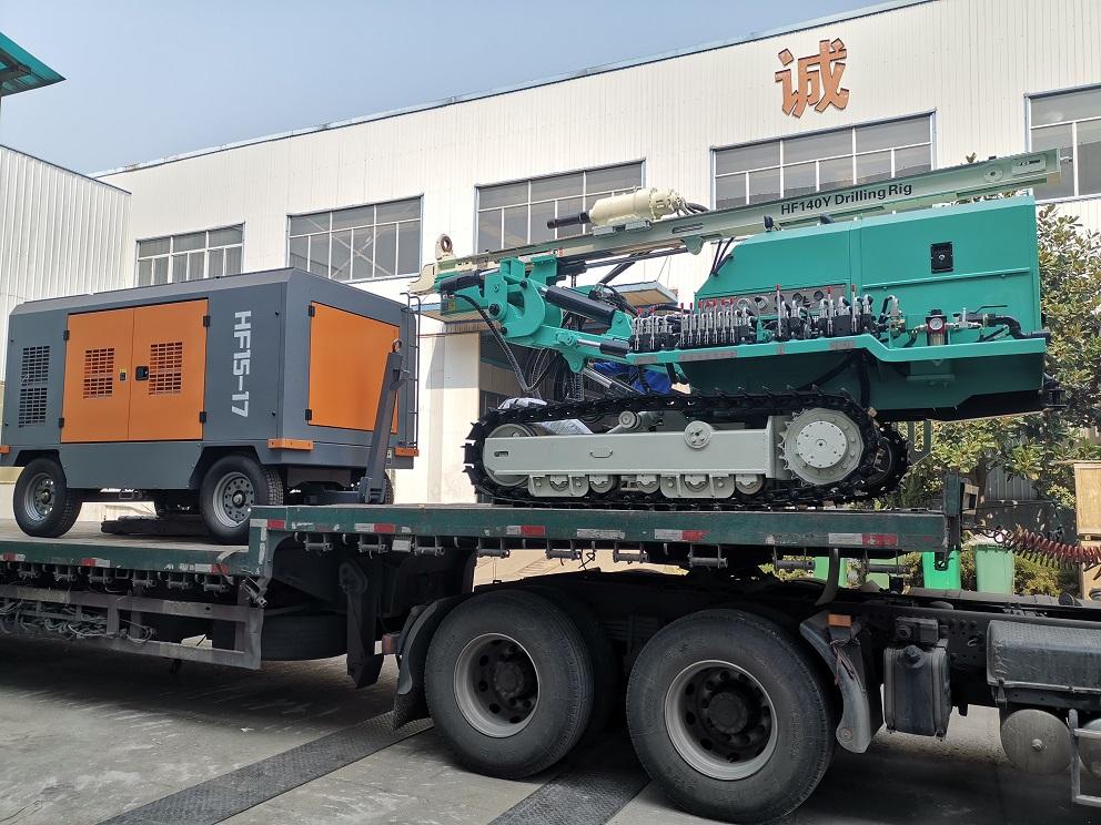 HF140Y drilling rig with air compressor 10255911