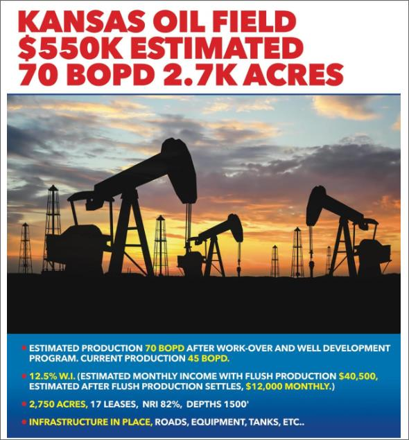 Offer Kansas oil Field   78784510