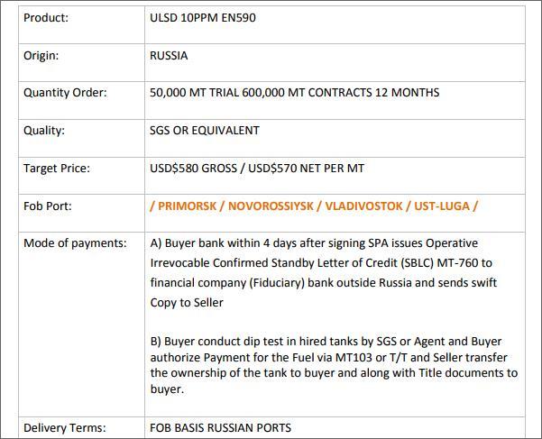 Offer ULSD  Russia  T_00110