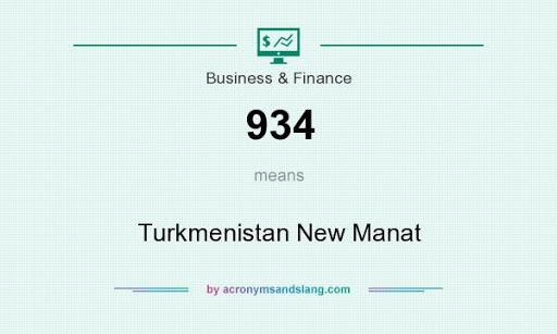 934  Turkmenistan manat   Untit510