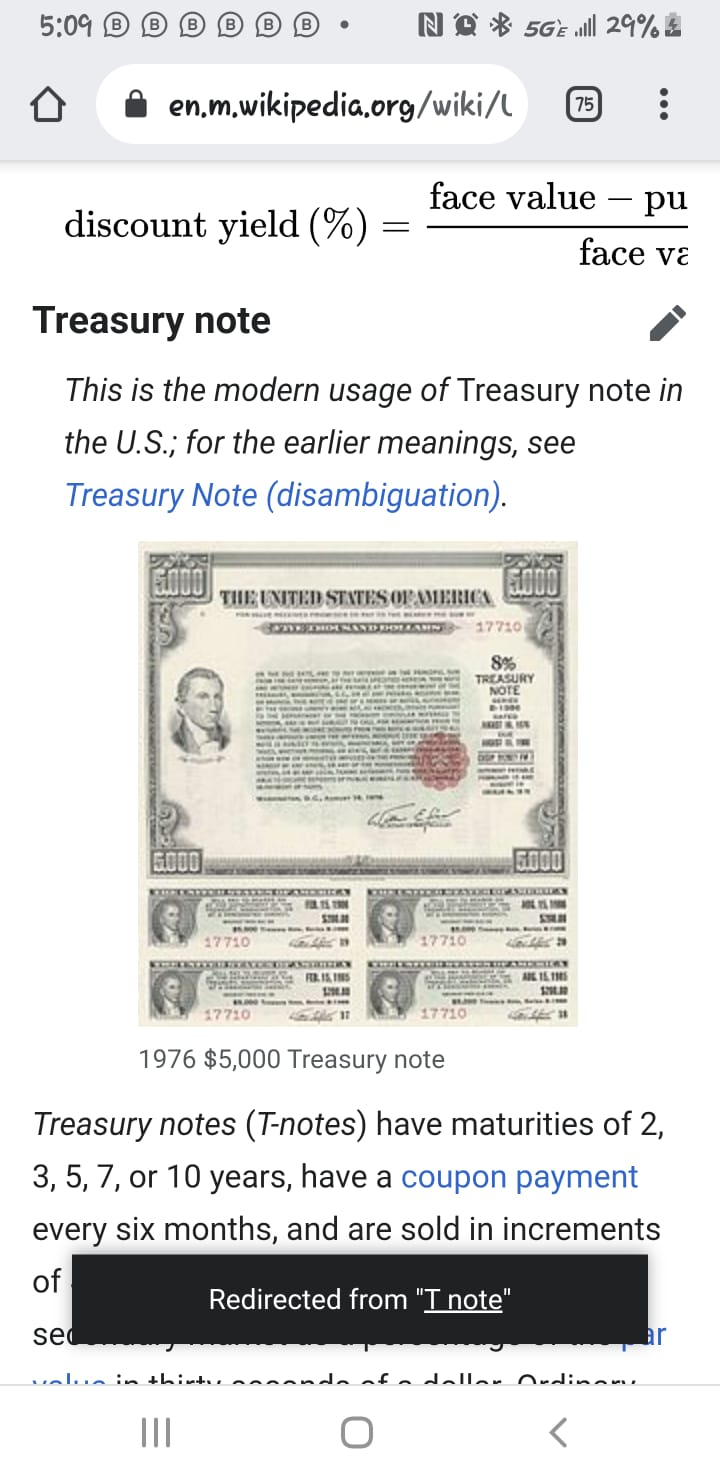 U.S. Treasury Notes and Bonds. Whats105
