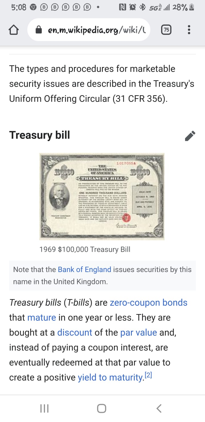 U.S. Treasury Notes and Bonds. Whats106