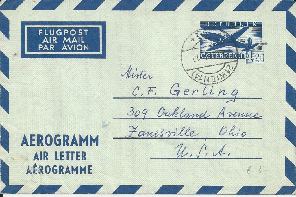 Flugpostfaltbriefe (Aerogramme) Bild211