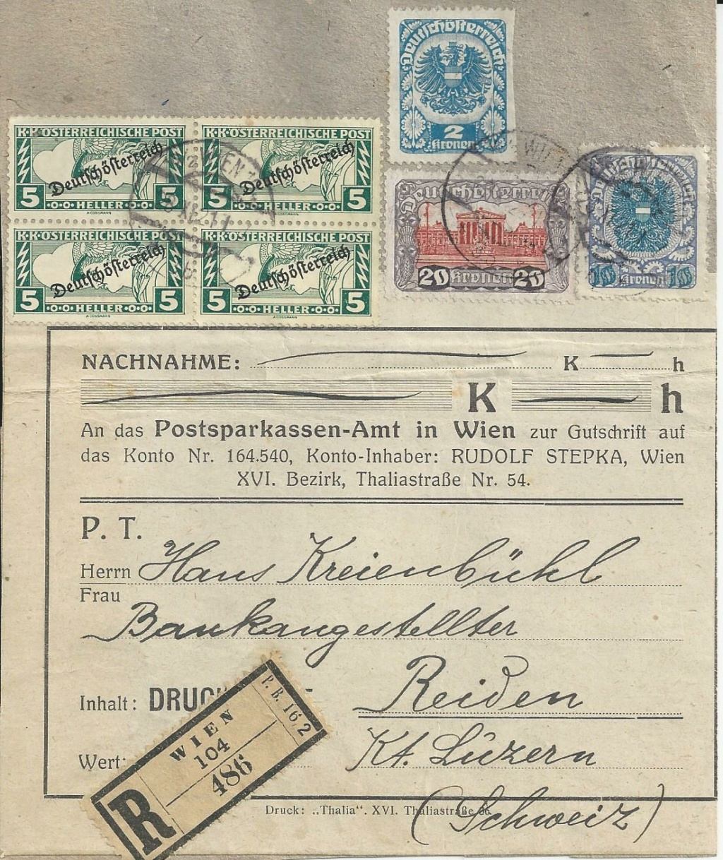 Inflation in Österreich - Belege - 1918 bis 1925 - Seite 24 Bild238