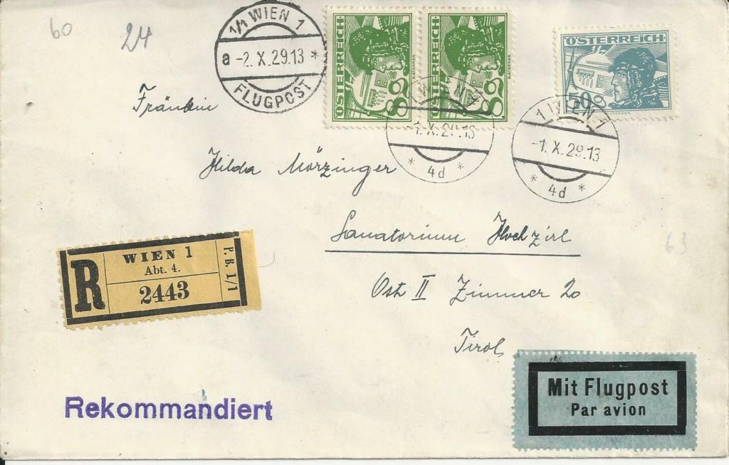 Ältere Flugpost Österreich Bild258