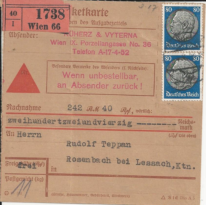 Österreich im III. Reich (Ostmark) Belege - Seite 23 Bild268
