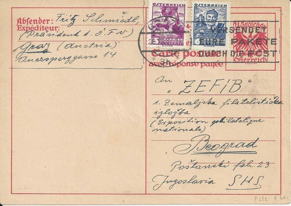 Bedarfspost Ganzsachen Österreich 1925-1938 - Seite 2 Bild276