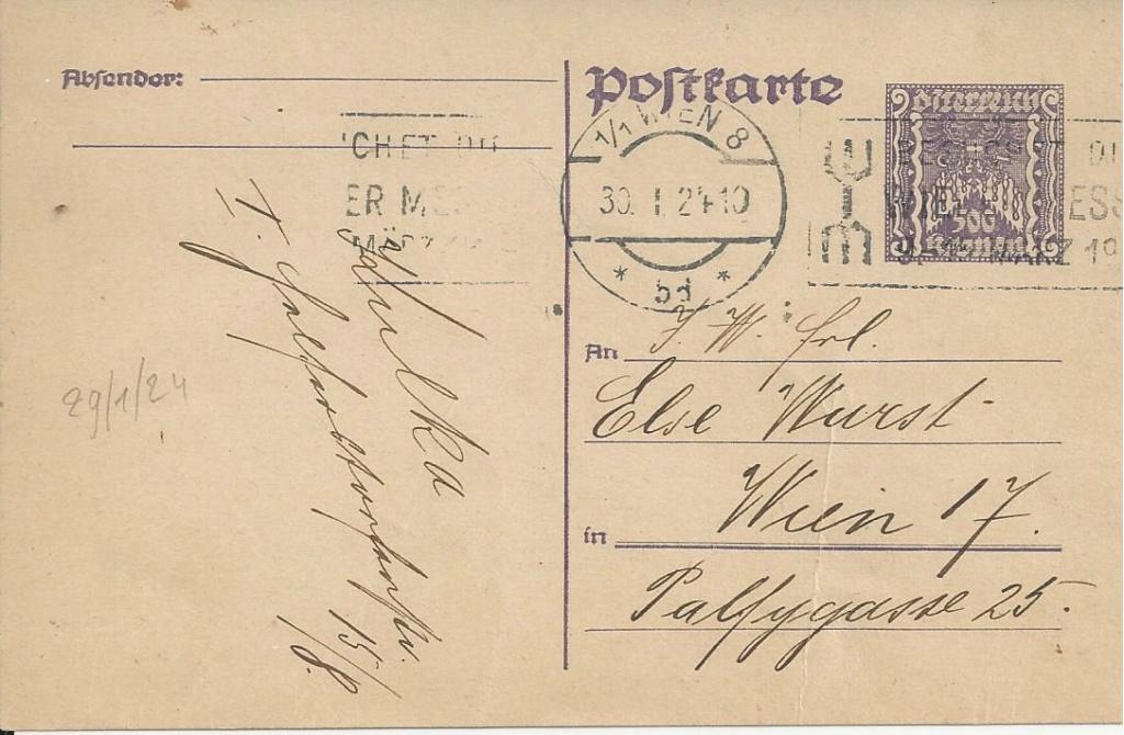 """Postkartenserie """"Quadratischer Wertstempel - Wertziffer im Dreieck"""" 1922-24 - Seite 5 Bild281"""