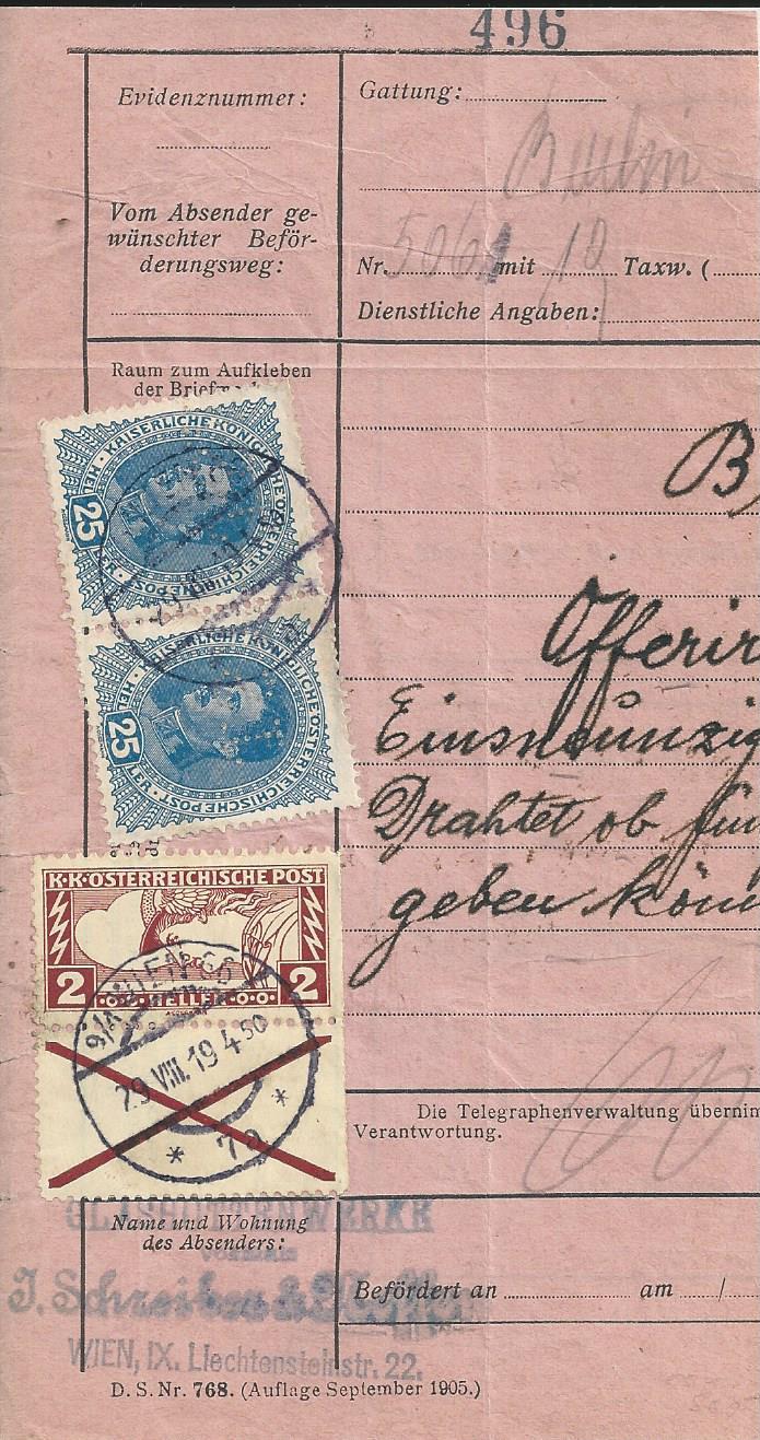 Inflation in Österreich - Belege - 1918 bis 1925 - Seite 27 Bild293