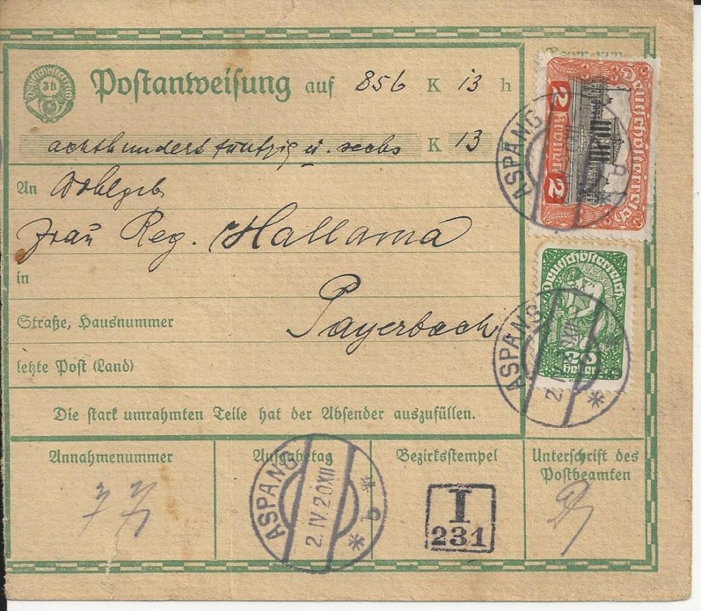 Inflation in Österreich - Belege - 1918 bis 1925 - Seite 18 Bild30