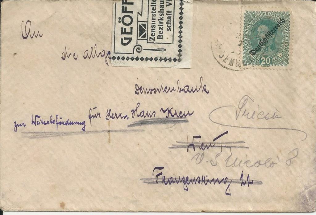Inflation in Österreich - Belege - 1918 bis 1925 - Seite 28 Bild304