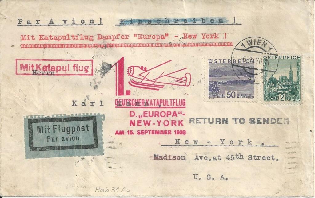 Katapultflugpost Deutschland-New York Bild45
