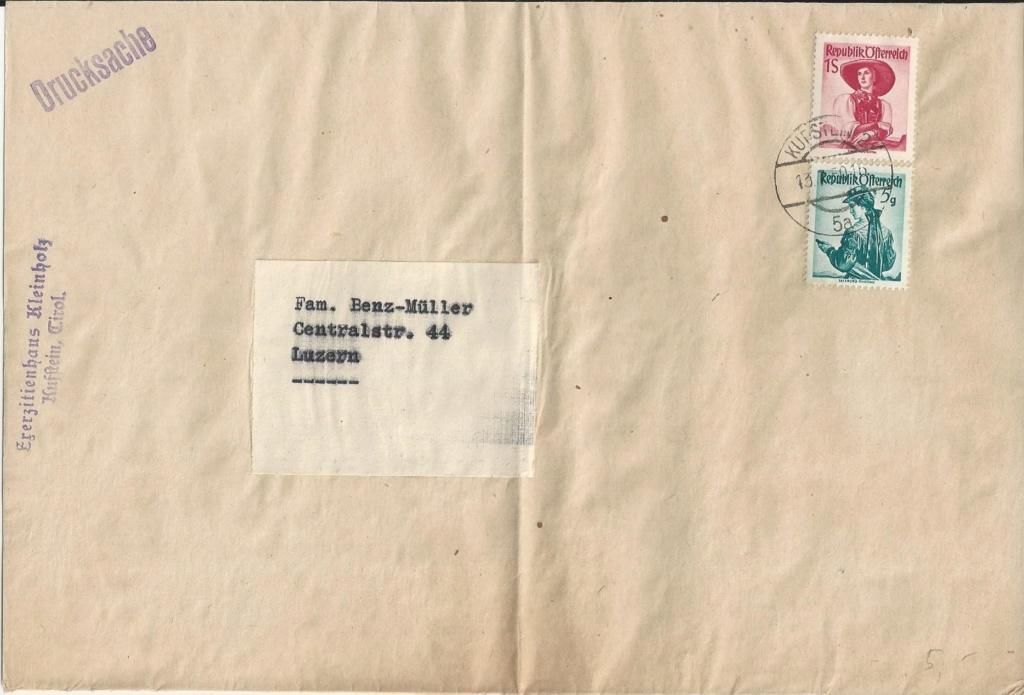 Trachtenserien ANK 887 - 923 und 1052 - 1072 Belege - Seite 12 Bild54