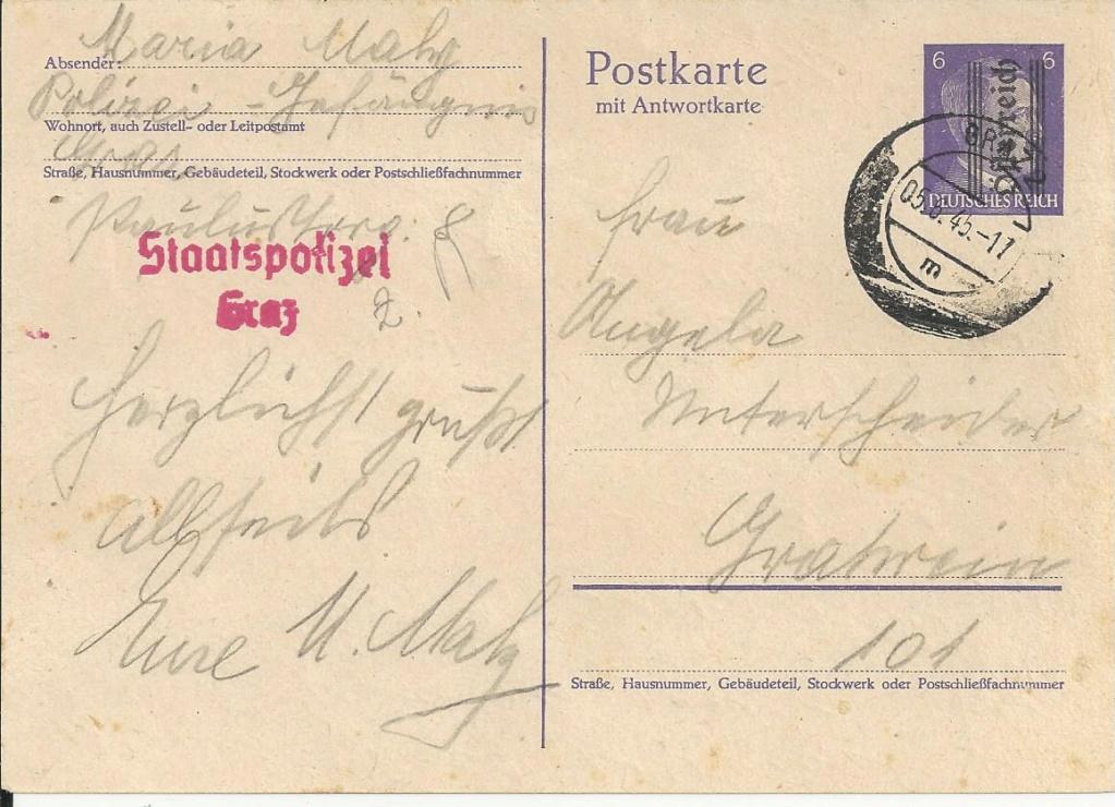 Postkarten 1945 (Grazer Provisorien) Bild61