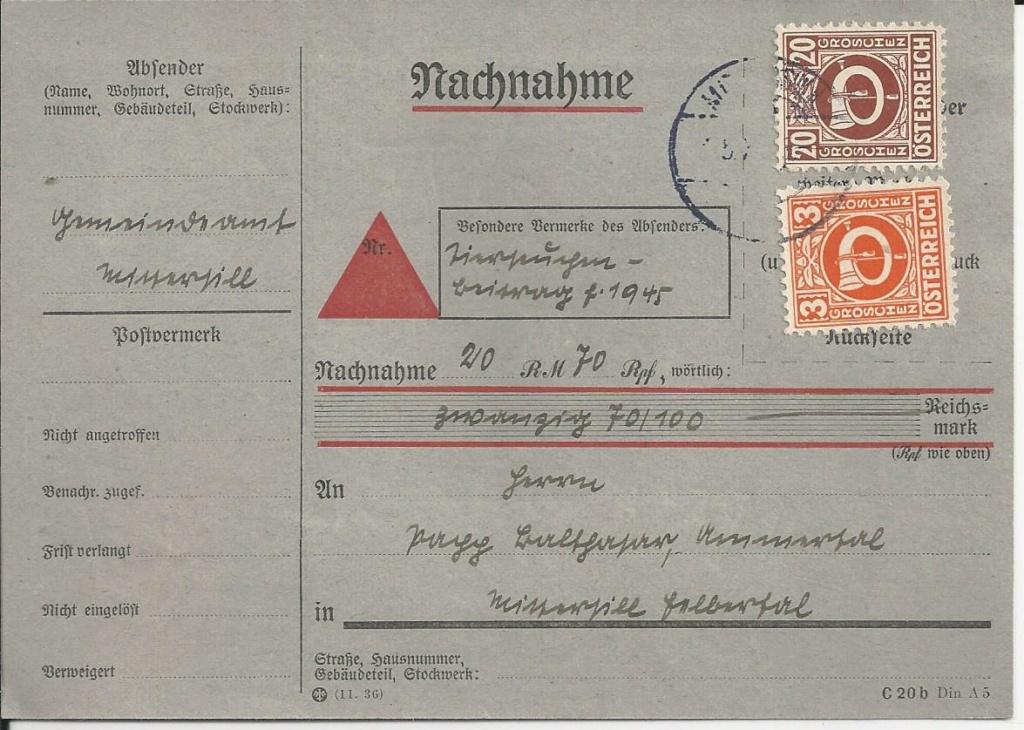 Posthornzeichnung  -  ANK 697-713  -  Belege - Seite 4 Bild78