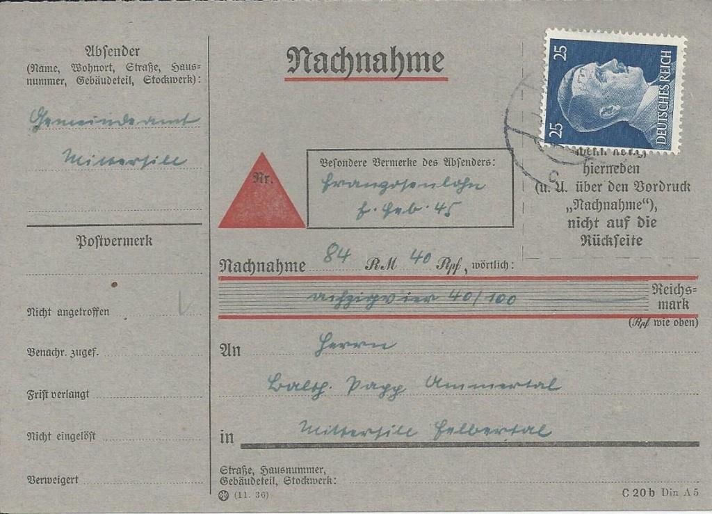 Österreich im III. Reich (Ostmark) Belege - Seite 15 Bild84