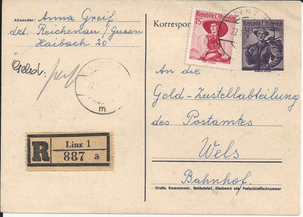 Trachtenserien ANK 887 - 923 und 1052 - 1072 Belege - Seite 12 Bild96