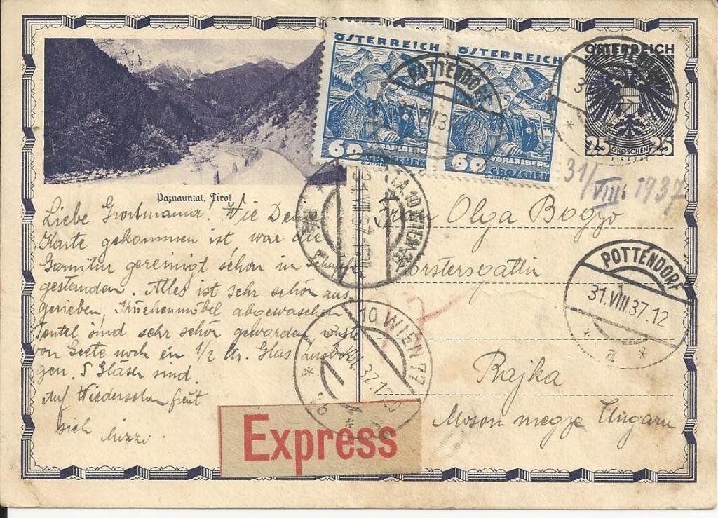 Bedarfspost Ganzsachen Österreich 1925-1938 - Seite 2 Bild_165