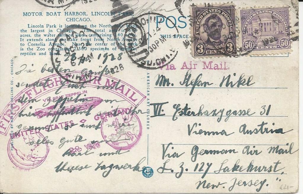 nach - Zeppelinpost aus/nach Österreich Bild_177
