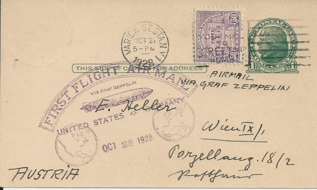 nach - Zeppelinpost aus/nach Österreich Bild_179