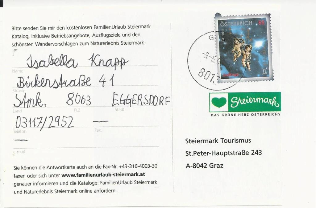 Freimarken Tierkreiszeichen/Sternbilder - Belege Bild_188