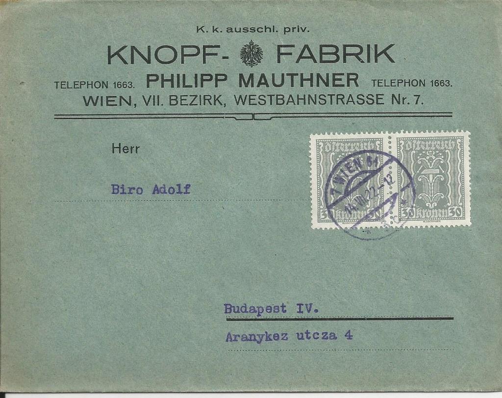 Inflation in Österreich - Belege - 1918 bis 1925 - Seite 16 Bild_210